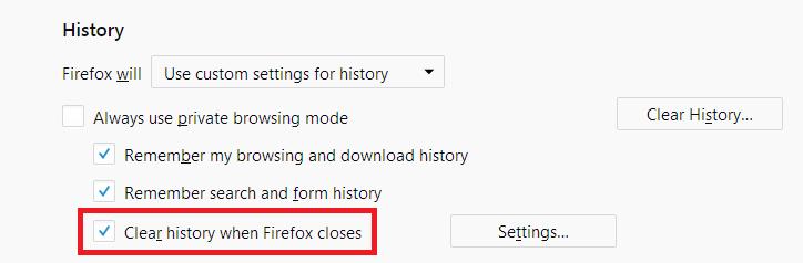 Fx60Custom-ClearHistoryWhenFirefoxCloses